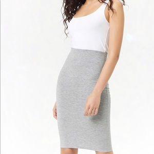 Forever 21 Gray Pencil Skirt